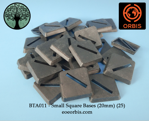 BTA011 - Small Square Bases (20mm) (25)