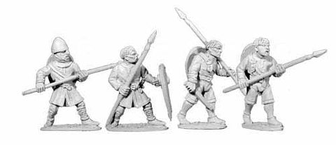 Norman Unarmoured Spearmen (4)