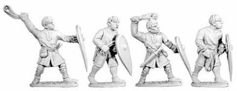 Normans Unarmoured with Slings (4)