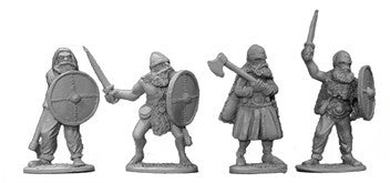 Viking Elite Warriors with Swords and Axes (4)