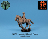 DW717 - Mounted Cheetah Person