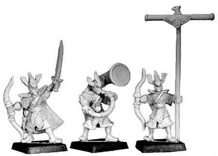 High Elf Archer Command (3)