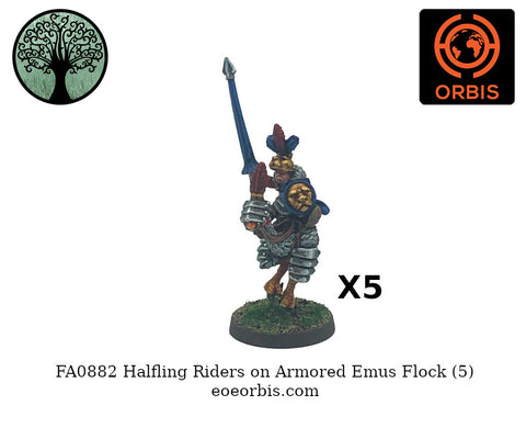 FA0882 - Halfling on Armored Emu - Army Pack (5)