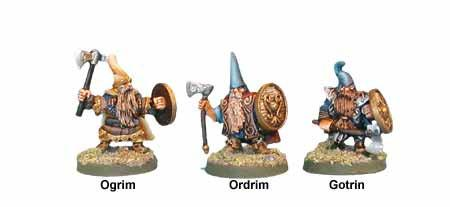 FA0966 - Black Mountain Dwarves, Ogrim, Ordrim, & Gotrin. (3)