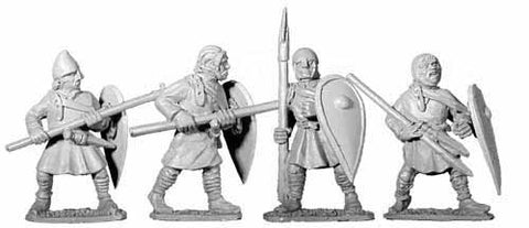 2nd Crusade Unarmoured Spearmen I (4)