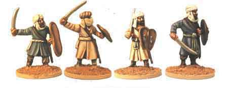 Warriors of Islam Infantry with Swords II (4)