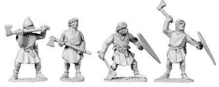 2nd Crusade Unarmoured Axemen (4)