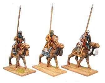 Warriors of Islam Camel Cavalry Unarmoured Spearmen (3)
