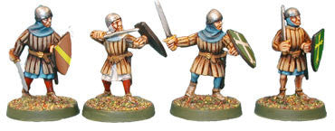 Swordsmen with Bascinets (4)