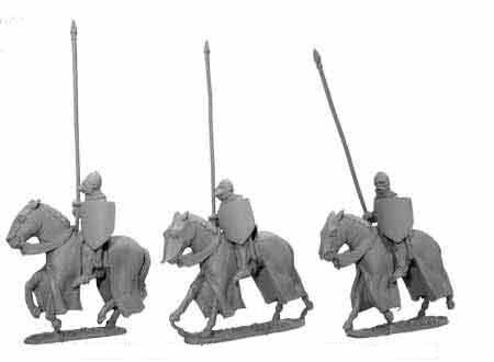 Late Knights Cavalry with Raised Lances (3)