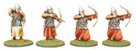 Auxiliaries Eastern Archers Various Poses (4)
