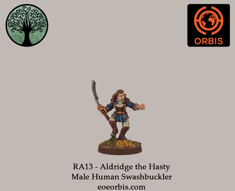 RA13 - Aldridge the Hasty - Male Human Swashbuckler