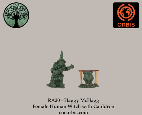 RA20 - Haggy McHagg - Female Human Witch with Cauldron