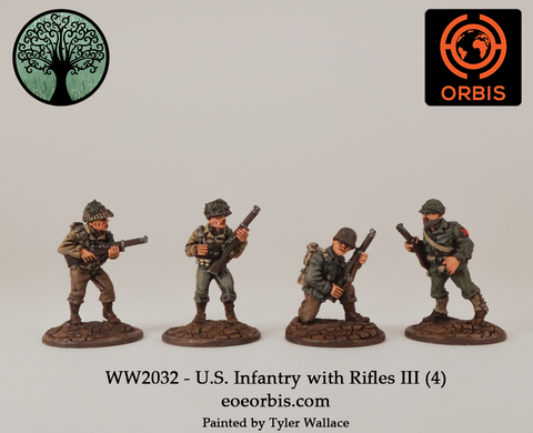 WW2032 - U.S. Infantry with Rifles III (4)