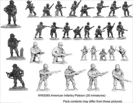 U.S. Platoon (30)<br> <EOL>Platoon contains 21 Riflemen, 3 SMGs and 6 Bargunners