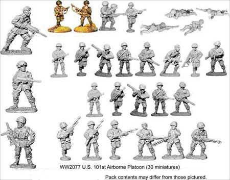 U.S. Para Platoon (30)<br> <EOL>Platoon contains 21 Riflemen, 3 SMGs and 6 Bargunners