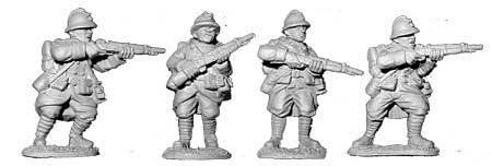 French Riflemen with Full Packs (4)