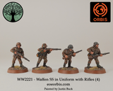 WW2221 - Waffen SS in Uniform with Rifles (4)