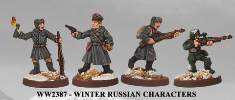 WW2387 - Winter Russian Characters I