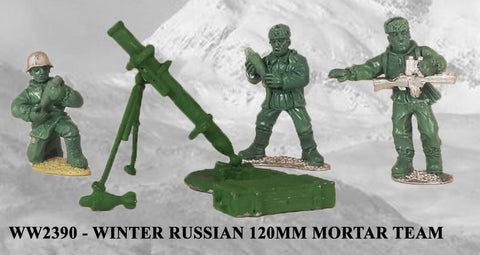 WW2390 - Winter Russian 120mm Mortar and Team