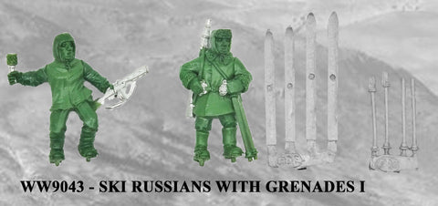 WW9043 - Russian Ski Troops with Grenades I