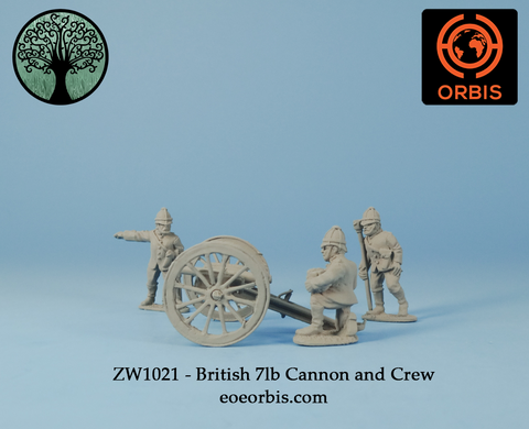 ZW1021 - British 7lb Cannon and Crew