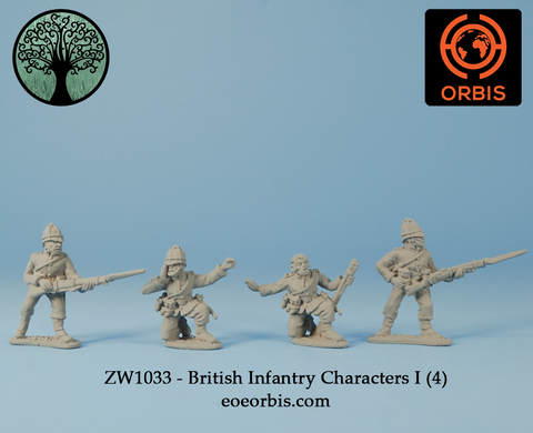 ZW1033 - British Infantry Characters I (4)