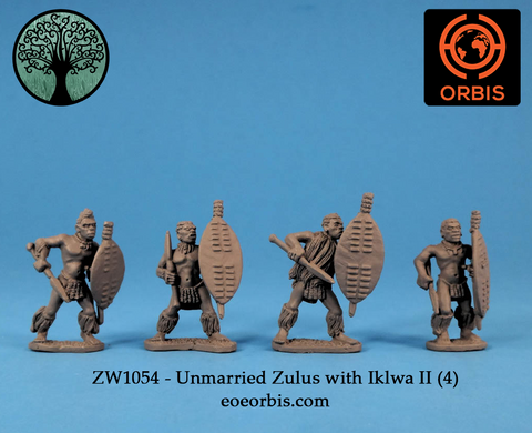 ZW1054 - Unmarried Zulus with Iklwa II (4)