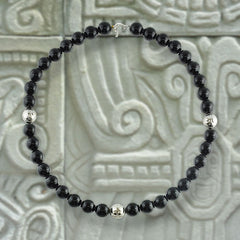 Park Avenue Black Onyx Bead Necklace