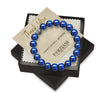 10mm Premium Natural Blue Tigers Eye Mens Beaded Bracelet
