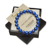 Blue Tigers Eye Beaded Bracelet for Men - Focus and Mental Clarity