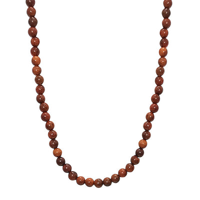Natural Rosewood Beads Necklace for Men