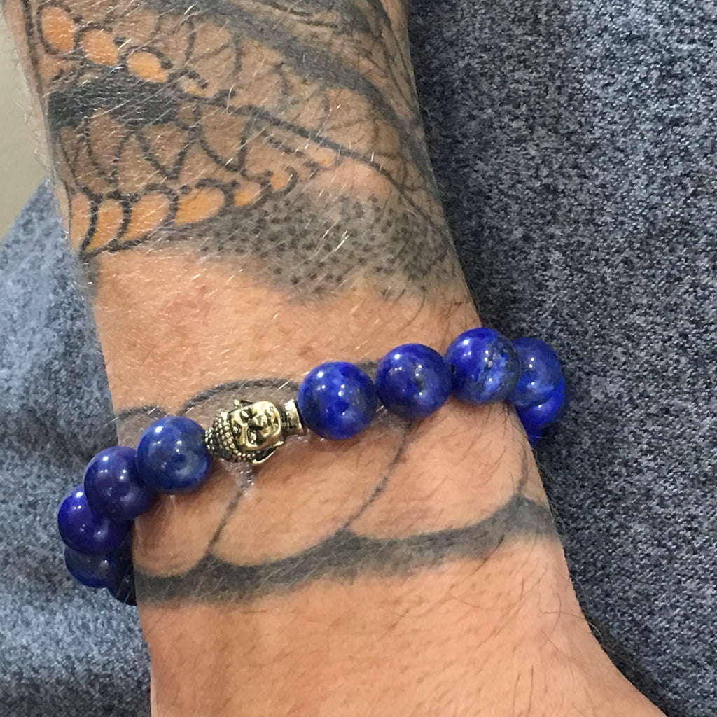 Lapis Royal Truth Buddha Bracelet for Men