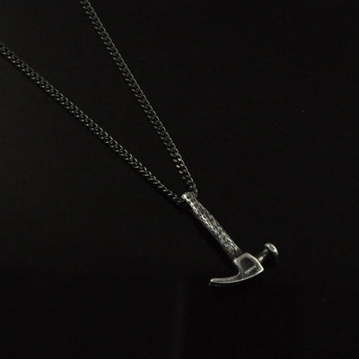 Martello Hammer Pendant Necklace in Stainless Steel