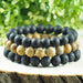 'Salt Life' Black Onyx, Lava Stone and Jasper Beaded Bracelet Set - Forziani - 2