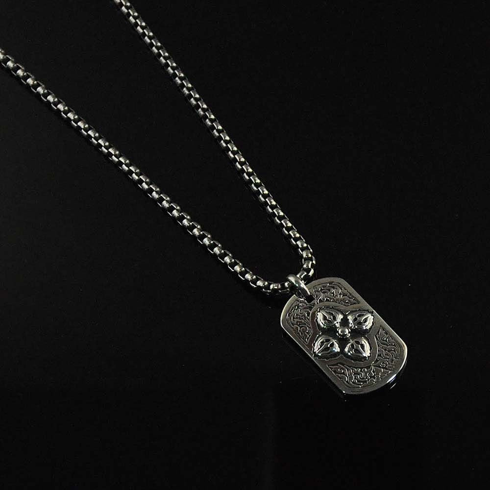Stig Stainless Steel Tag Necklace for Men