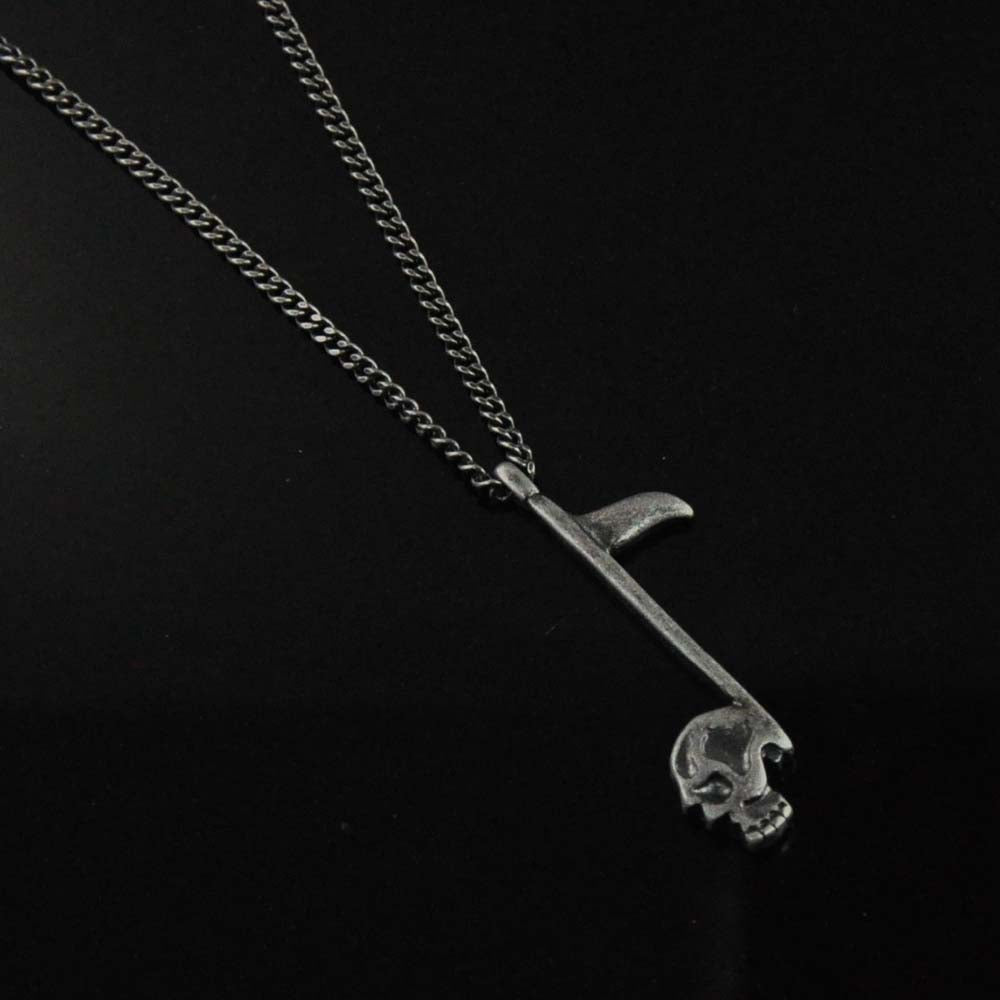 Tomahawk Skull Axe Pendant Chain Necklace for Men