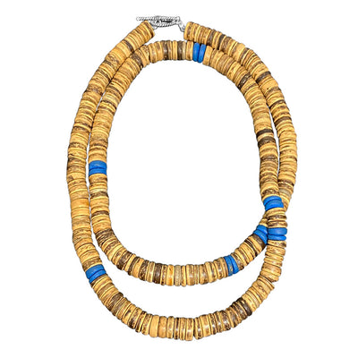 Island Life - Coconut Disks Beaded Necklace for Men
