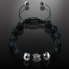 Men's Dynamic Black Onyx Matte & CZ Diamonds Pavè Bracelet