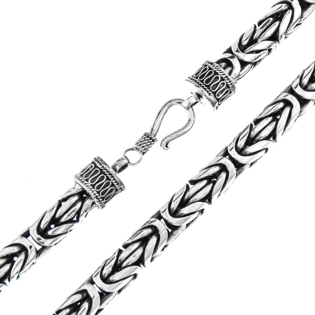 Classic 8mm Bali Byzantine Chain Bracelet for Men