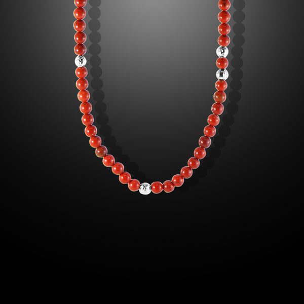 Summit Red Coral Beaded Necklace - Forziani - 1