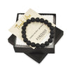 Matte Black Agate Beaded Bracelet for Men - Truth and Strength
