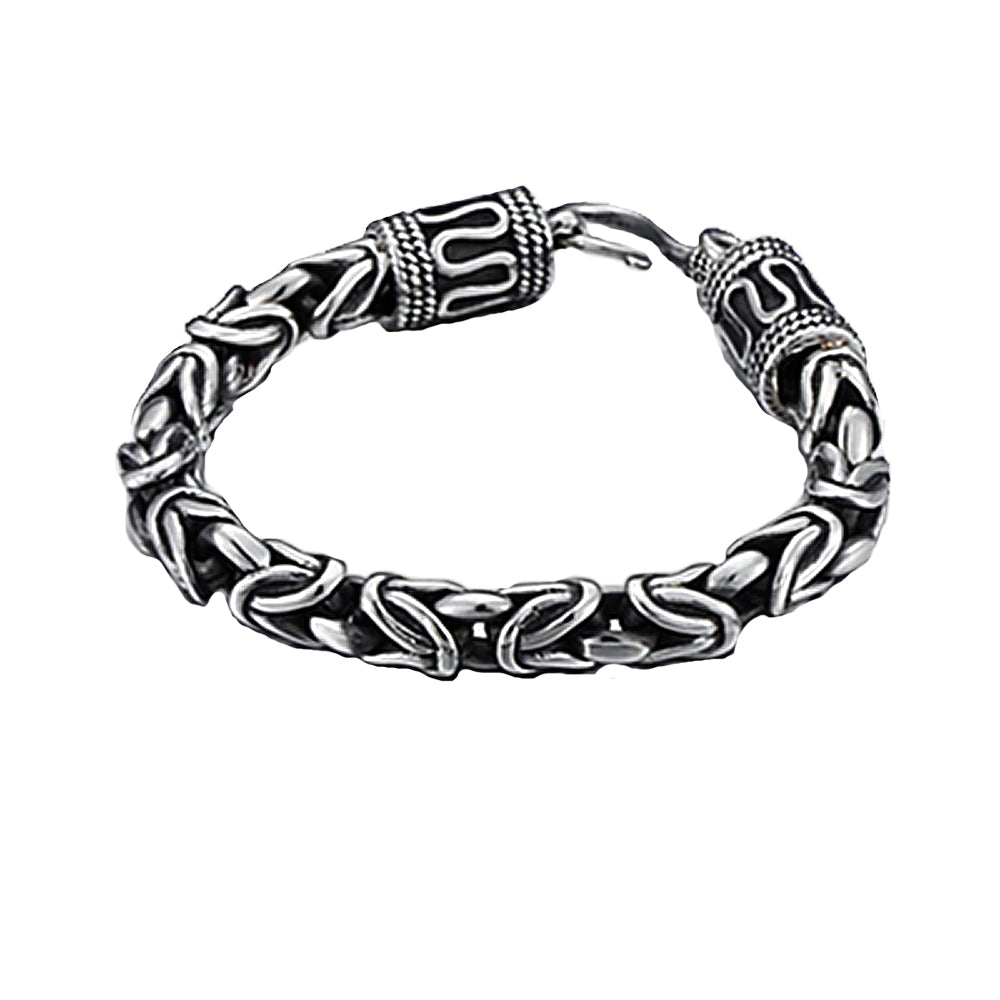 Classic Bali Byzantine Chain Bracelet for Men