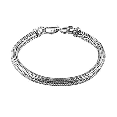 Classic 4mm Thai Snake Weave Chain Bracelet for Men