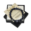 Blue Dumortierite Beaded Bracelet for Men - Focus and Self Discipline