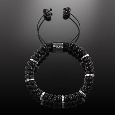 Explorer - Black Onyx Disks Beaded Bracelet for Men