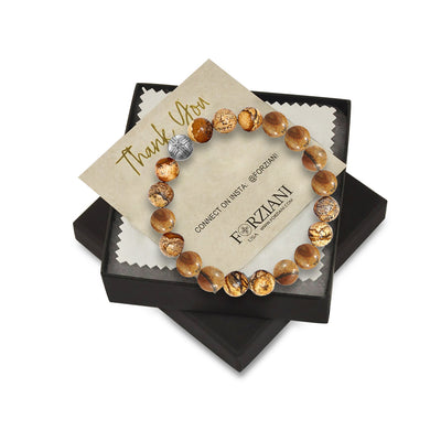 10mm Premium Natural Jasper Mens Beaded Bracelet