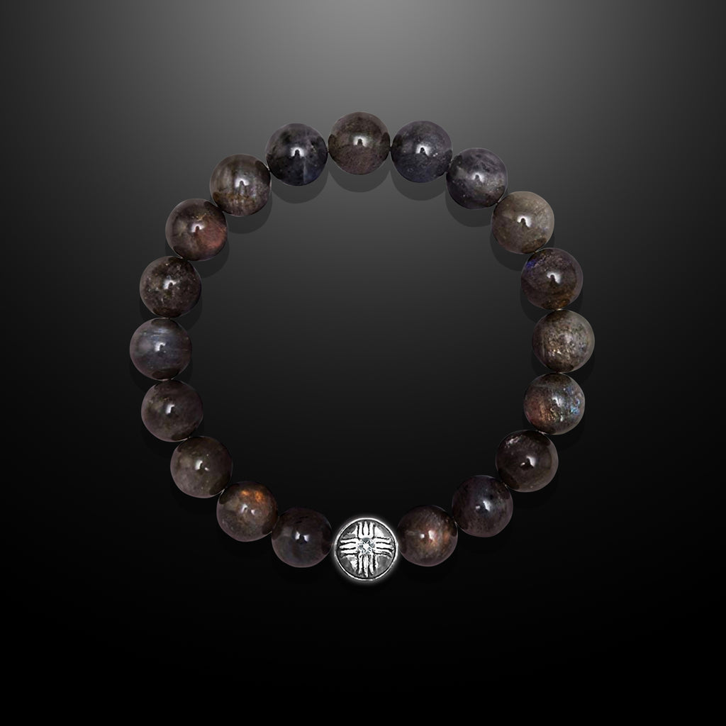 Labradorite Beaded Bracelet for Men - Strength and Perseverance