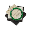 10mm Premium Natural Green Jade Mens Beaded Bracelet