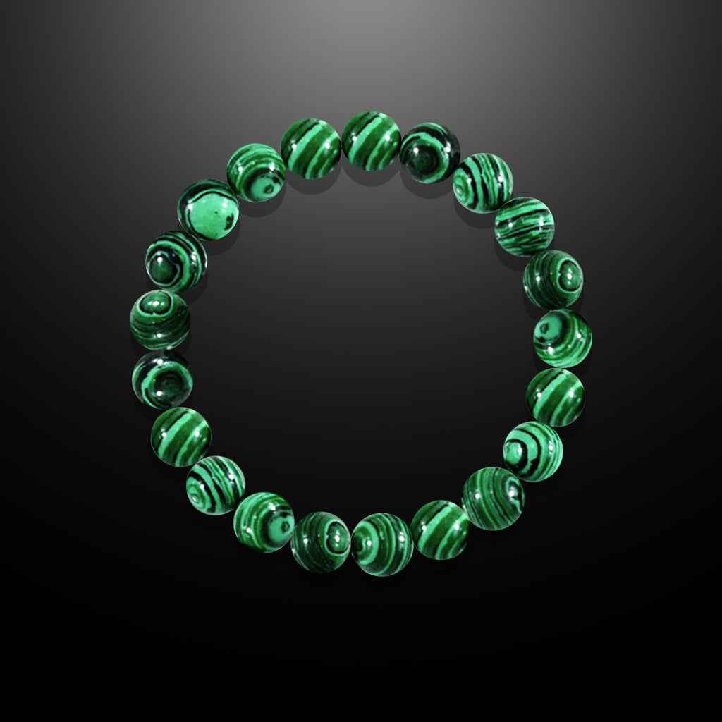 Malachite Beaded Bracelet for Men - Luck and Fortune
